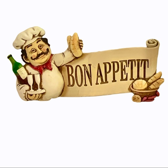 Wall Decor Fat Italian Chef Bon Appetit Ceramic Poshmark